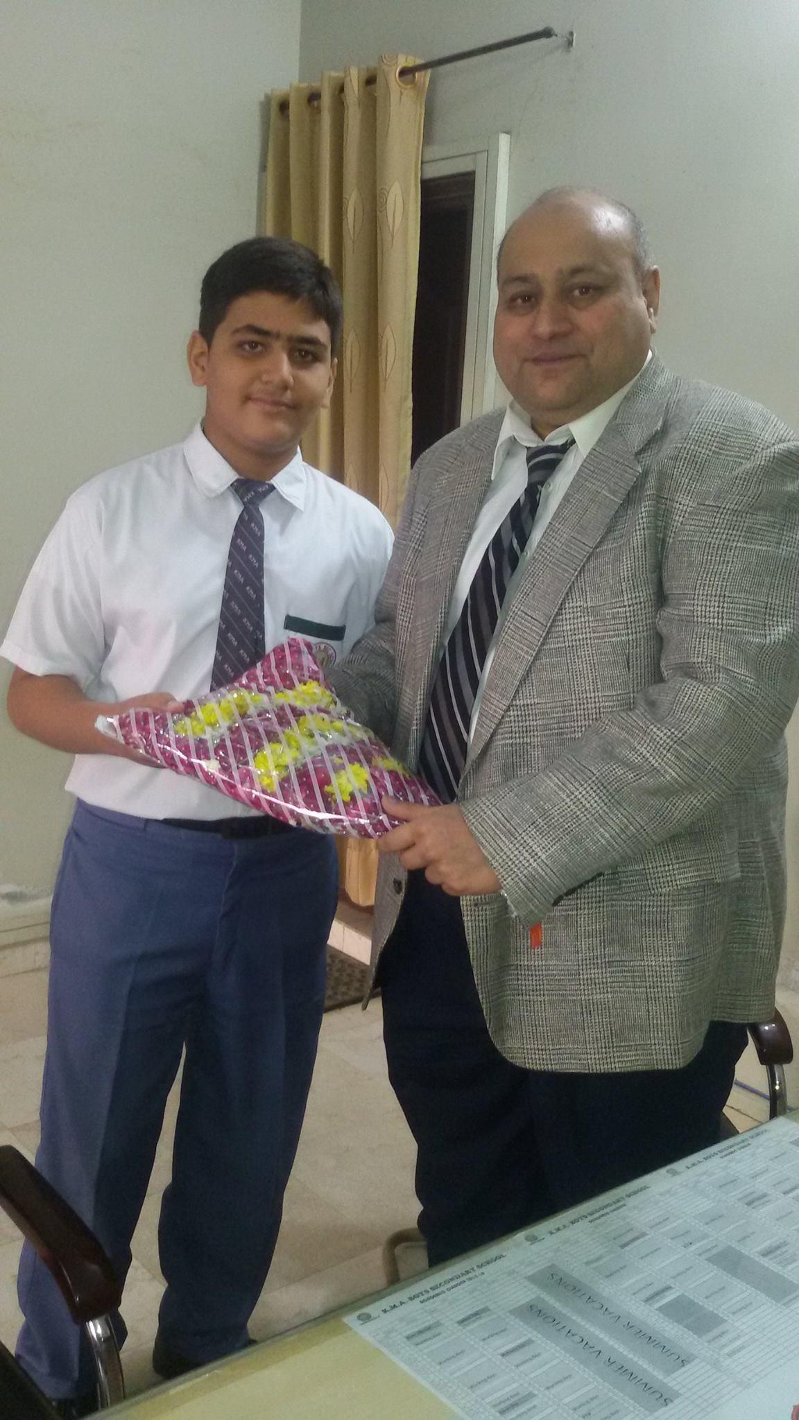 Professor Doctor Syed Jawaid Askari, Visit to KMA Boys Secondary School