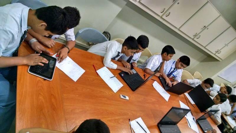 Students of KMA Boys Secondary School in Access Program