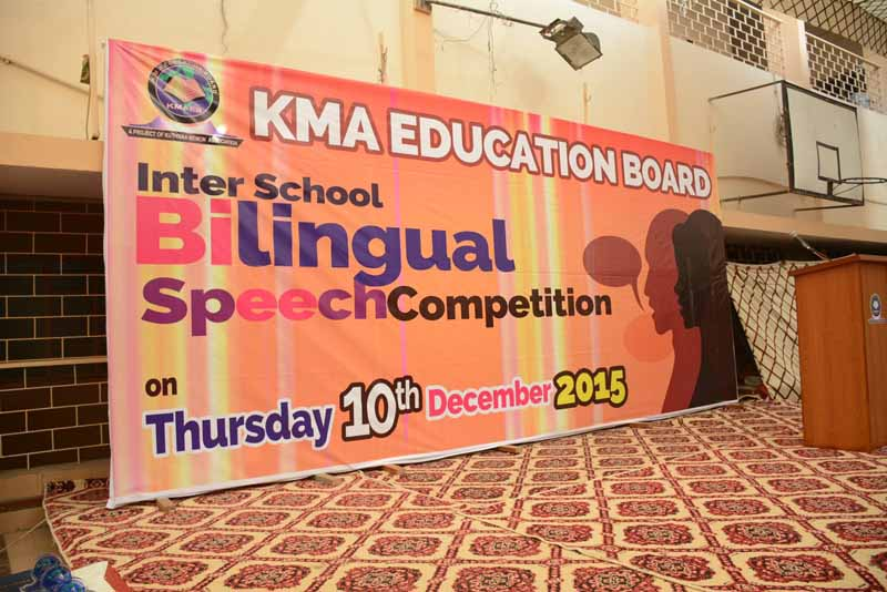 Bilingual Speech Competition 2015