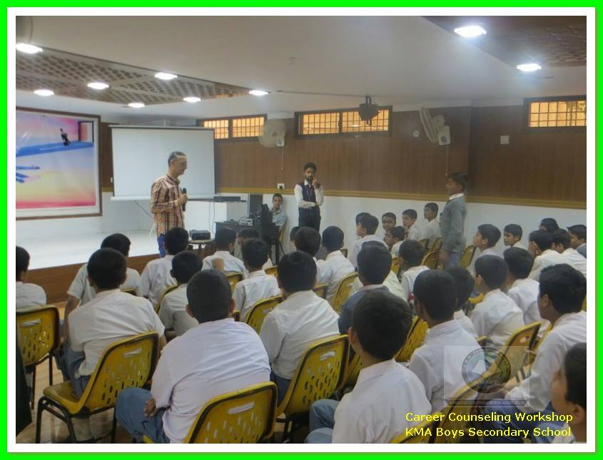 Career Counseling Session at KMA Boys Sec. School's Auditorium