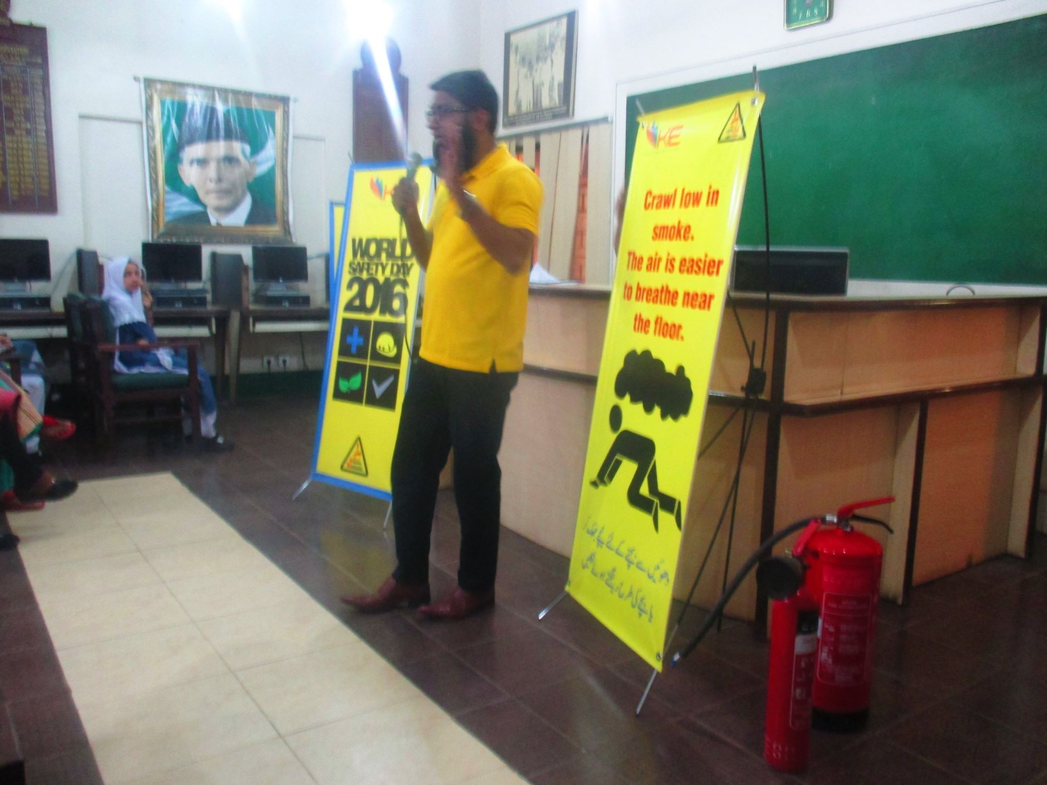 World Safety Day Celebrated in KMA GIRLS SEC SCHOOL by K-ELECTRIC