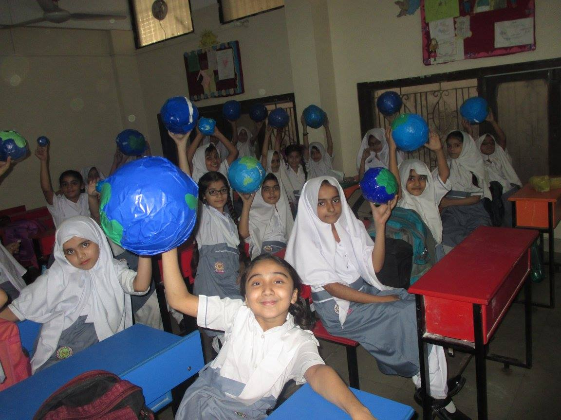 EARTH DAY celebrated at KMA Girls & Boys Primary School, Nayabad Campus