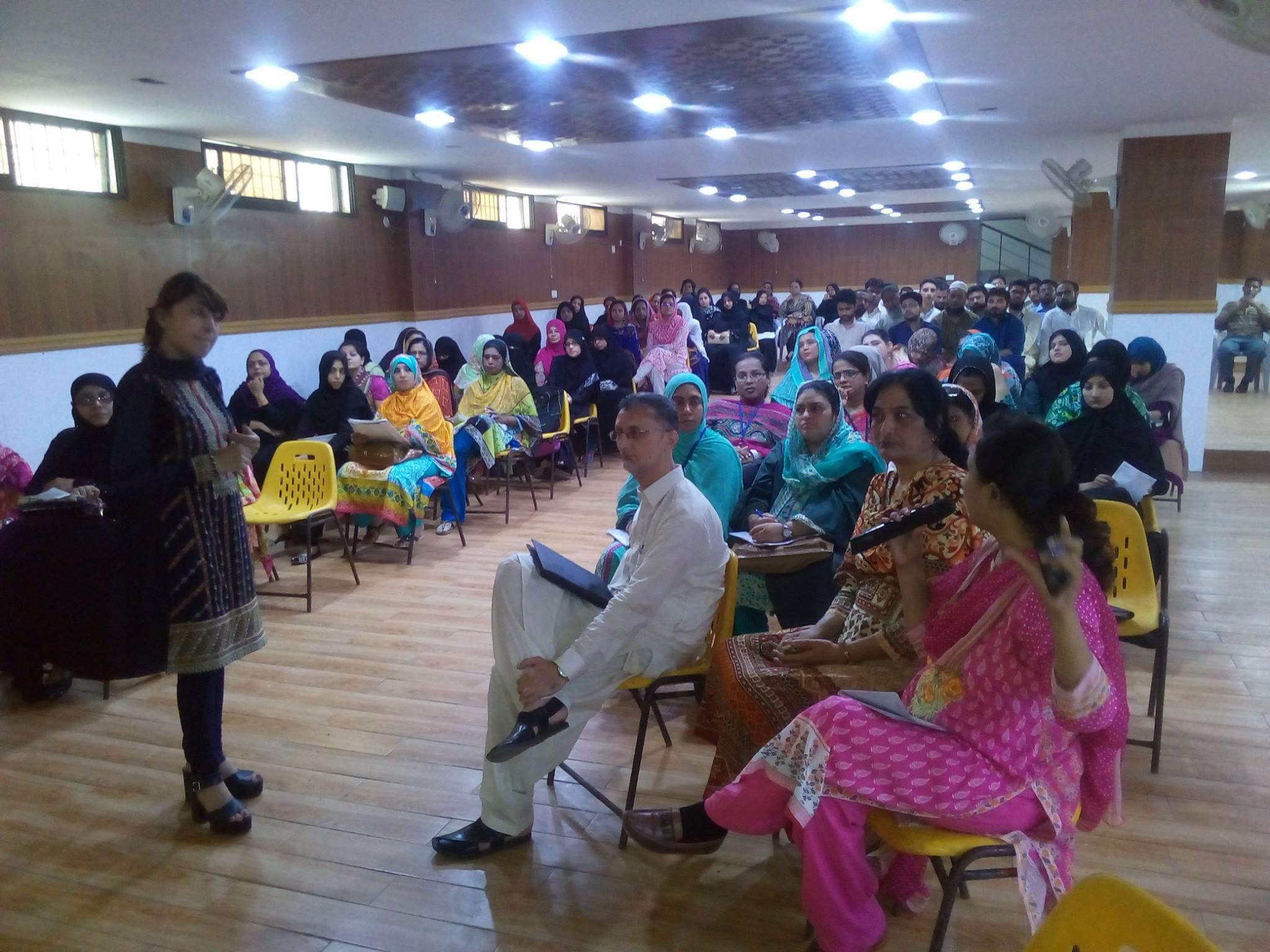 Teachers' training workshop conducted by Head of Department English, Ms, Saima Iqbal.