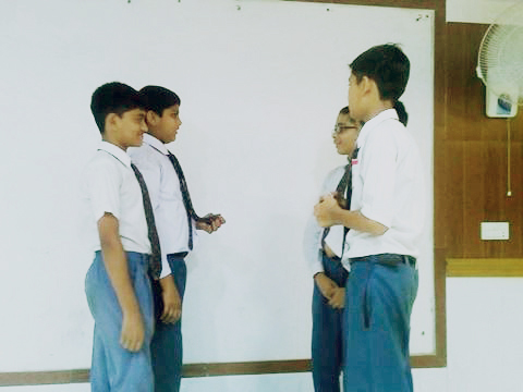 Students of Class X arranged a knowledge-full workshop involving the Students of Class VII & VIII.