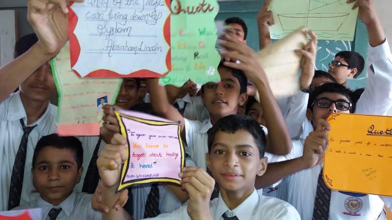 Creative Writing Activity by students of Grade VIII(A) KMA Boys Secondary School.