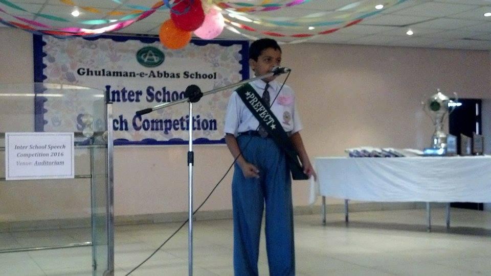 Inter school speech competition