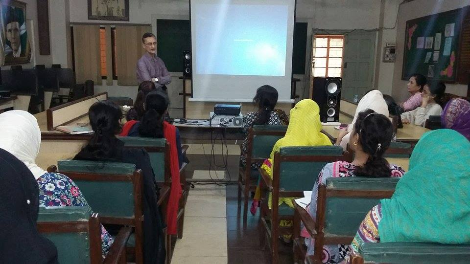 """A workshop on """"Using Humor and Language Play in the Classroom to Enhance Learning"""" at KMA Girls Secondary School."""