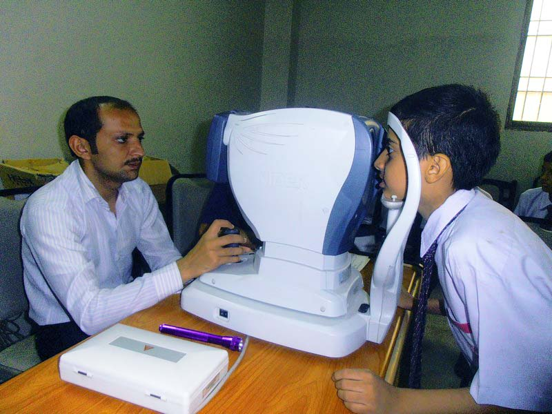 Eye Test at KMA Boys Secondary School
