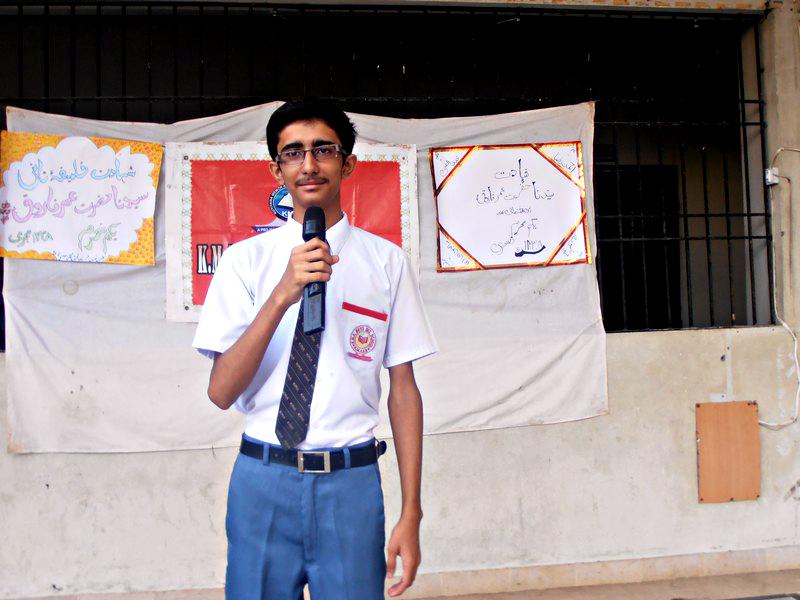 Assembly presentation; KMA Boys Sec. School