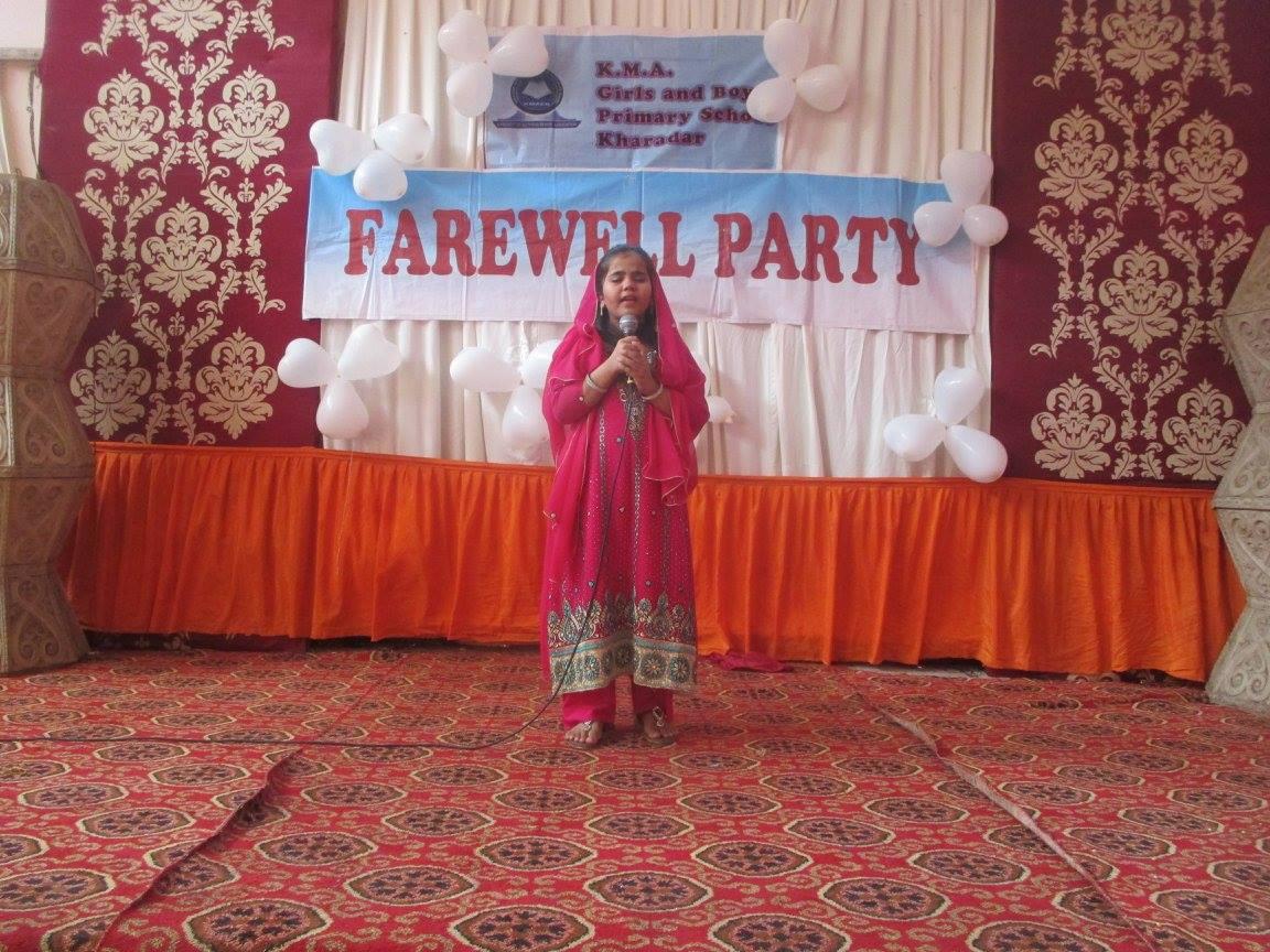 Farewell Party; KMA Girls & Boys Primary School.Kharadar