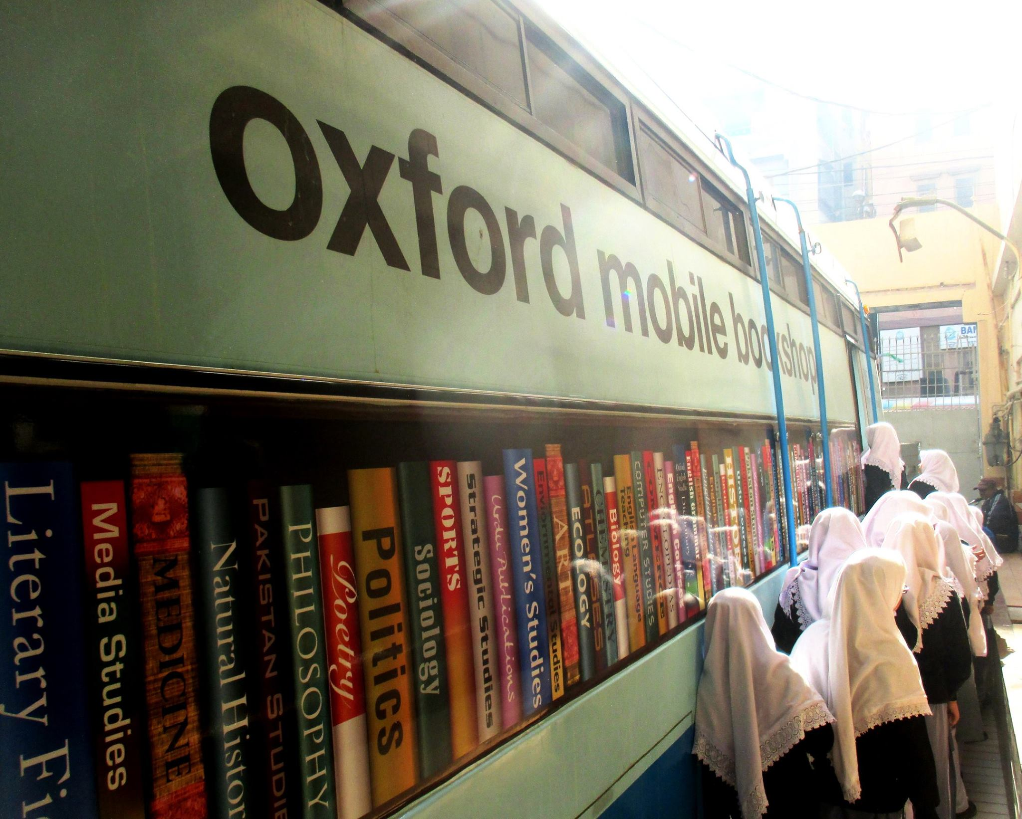 Oxford Mobile Bookshop; KMA Girls Secondary School