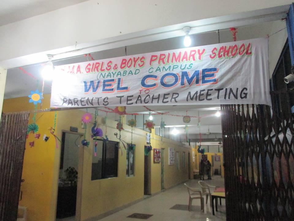 PTM KMA Primary School Nayabad, Feb 2018